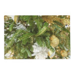 Silver and Gold Christmas Tree I Holiday Placemat