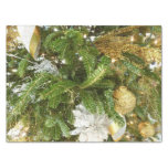 Silver and Gold Christmas Tree I Holiday Tissue Paper