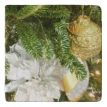 Silver and Gold Christmas Tree I Holiday Trivet