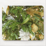 Silver and Gold Christmas Tree I Mouse Pad