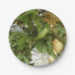 Silver and Gold Christmas Tree I Paper Plate
