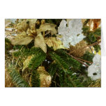 Silver and Gold Christmas Tree II Holiday Card