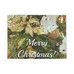 Silver and Gold Christmas Tree II Holiday Doormat