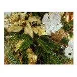 Silver and Gold Christmas Tree II Holiday Postcard