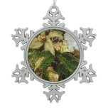 Silver and Gold Christmas Tree II Holiday Snowflake Pewter Christmas Ornament