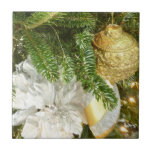 Silver and Gold Christmas Tree Tile