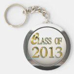 Silver And Gold Class Of 2013 Keychain