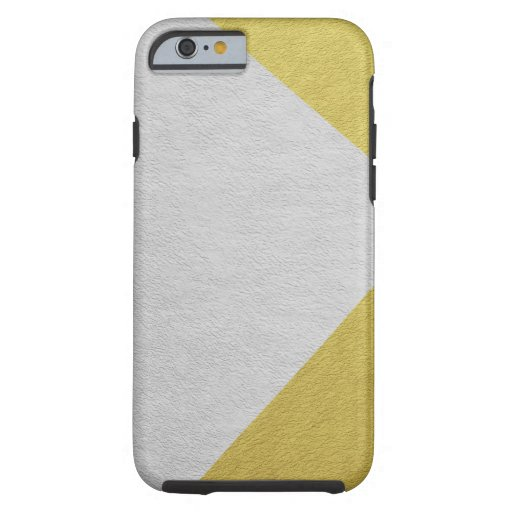 Silver and Gold Foil Color Blocking Geometric Tough iPhone 6 Case