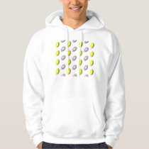 Silver and Gold Football Pattern Hoodie
