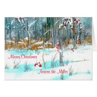 Silver and Gold Forest Christmas Card