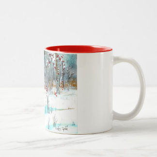 Silver and Gold Forest Two-tone Mug