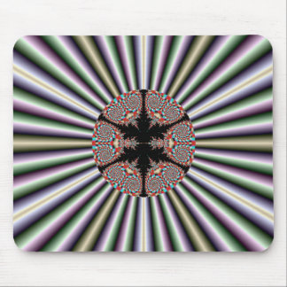Silver and Gold Fractal Mousepad