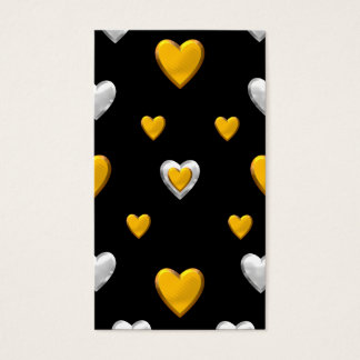 Silver and Gold Hearts Business Card