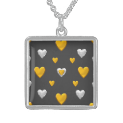 Silver and Gold Hearts Custom Jewelry