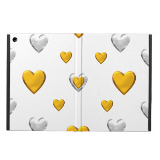 Silver and Gold Hearts iPad Air Case