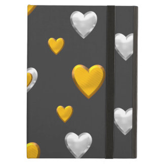 Silver and Gold Hearts iPad Air Cover