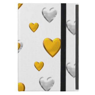 Silver and Gold Hearts iPad Mini Cover