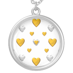 Silver and Gold Hearts Jewelry