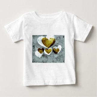 Silver and Gold Hearts Shirt