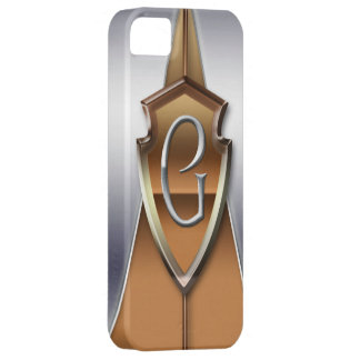 Silver and Gold Monogram Letter G iPhone 5 Cover