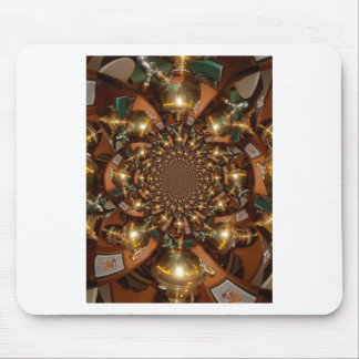 Silver and Gold Mouse Pad