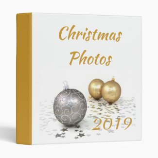 Silver And Gold Ornament Christmas Binder