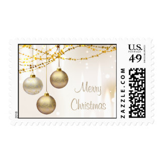 Silver and Gold Ornate Christmas Balls Postage Stamps