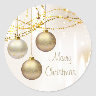 Silver and Gold Ornate Christmas Balls Stickers