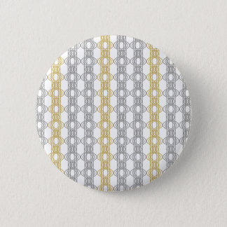 Silver and Gold Pattern Pinback Button