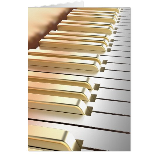 Silver and Gold Piano Card