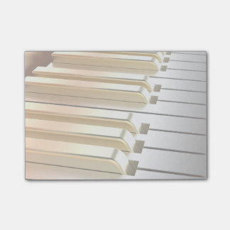 Silver and Gold Piano Post-it Notes