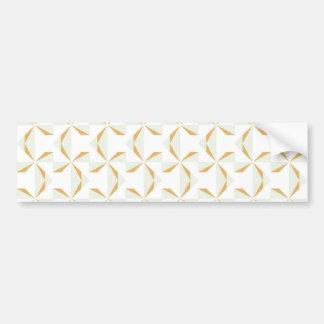Silver and Gold Pinwheels Bumper Sticker