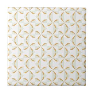 Silver and Gold Pinwheels Ceramic Tile