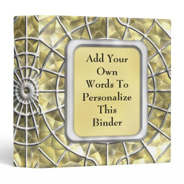 Halloween Themed Silver and Gold Spider Web 3 Ring Binder