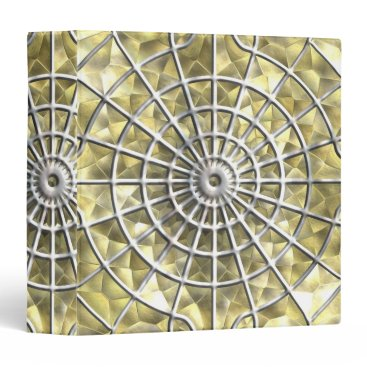 Halloween Themed Silver and Gold Spider Web Binder