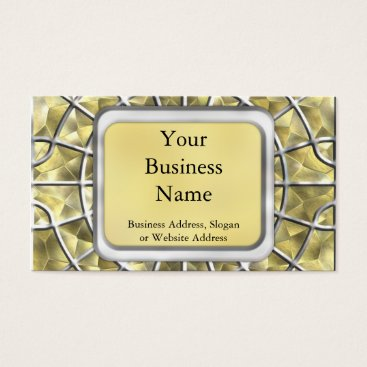 Halloween Themed Silver and Gold Spider Web Business Card