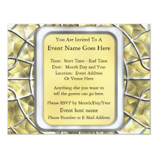 Silver and Gold Spider Web Card