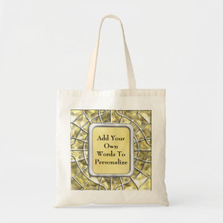 Silver and Gold Spider Web Tote Bag