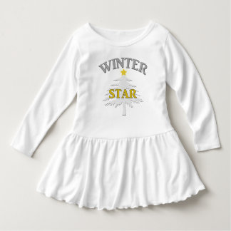 Silver and gold Winter Star design. Dress