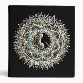 Silver and Gold Woman Mandala 3 Ring Binder