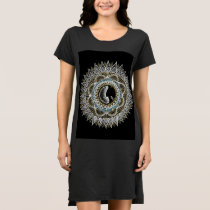 Silver and Gold Woman Mandala Dress