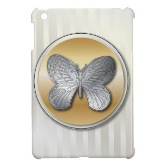 Silver and golden effect butterfly bg3 iPad mini covers