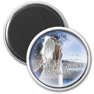 Silver and Grace Woman Fridge Magnet
