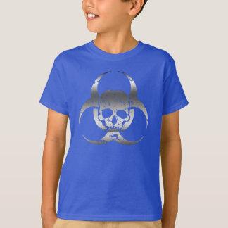 Silver and Gray Biohazard and Skull T-Shirt