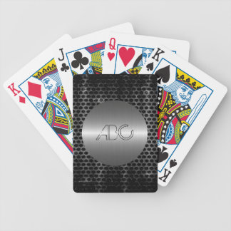 Silver and Gray Stainless Steel Metal Bicycle Playing Cards