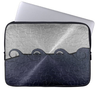 Silver and Gray Stainless Steel Metal Swirl Computer Sleeve