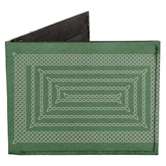 Silver And Green Celtic Rectangular Spiral Tyvek Wallet