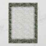 Silver And Green Celtic Spiral Knots Pattern