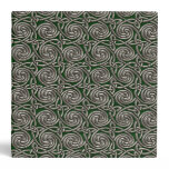 Silver And Green Celtic Spiral Knots Pattern Binder