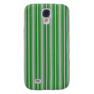 Silver and Green Christmas Stripes Samsung Galaxy S4 Case